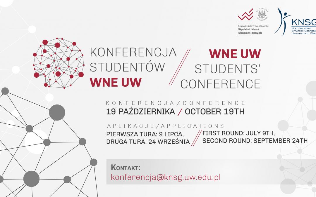 Konferencja studentów WNE UW